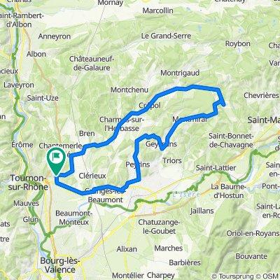 De Rue des Rosiers 1, Mercurol-Veaunes à Route des Alpes 1552, Mercurol-Veaunes