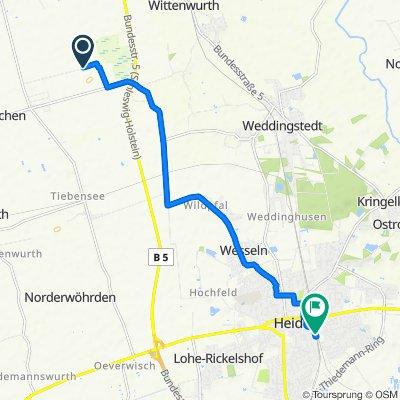 Route von Am Weißen Moor 4, Neuenkirchen