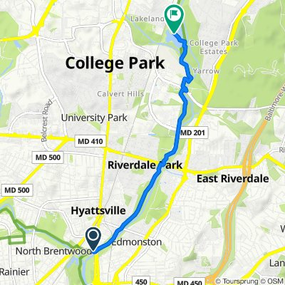 Charles Armentrout Dr, Hyattsville to 8101–8105 55th Ave, College Park