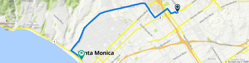 Westwood to Pacific via San Vicente