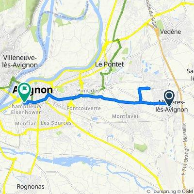 De 59 Impasse du Vallon, Morières-lès-Avignon à 14A Boulevard Saint-Roch, Avignon