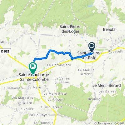 De 2 Chemin de l'Église, Saint-Hilaire-sur-Risle à Résidence des Monts d'Amain, Sainte-Gauburge-Sainte-Colombe