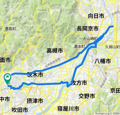西国街道~田中神社~淀川CR