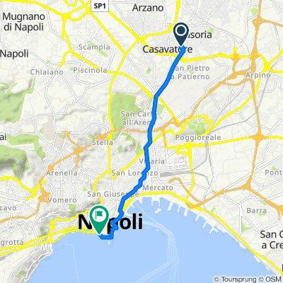 Da Via Ludovico Ariosto 19, Casoria a Via Partenope 10–11C, Napoli