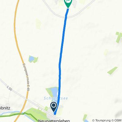 Brumbyer Straße 3, Nienburg (Saale) nach Neugattersleber Straße 31–33, Staßfurt