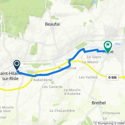 De 2 Chemin de l'Église, Saint-Hilaire-sur-Risle à Rue Strinz Margaretha, Aube