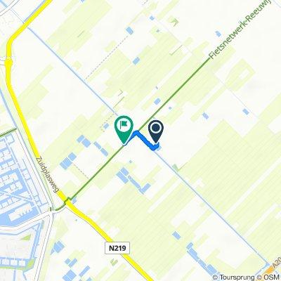 Tweede Tochtweg 143, Nieuwerkerk aan den IJssel naar Zuidelijke Dwarsweg 2 E, Nieuwerkerk aan den IJssel