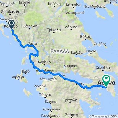 Sagiada nach Nakou 3, Athina