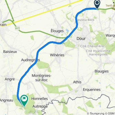 Itinéraire à partir de N550, Boussu