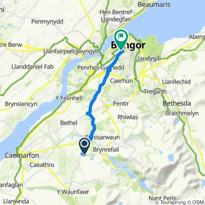 Route to tan y Coed to station, Bangor