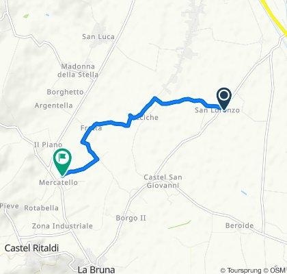 Da Località Castello in Picciche 3, San Lorenzo a Via Nicolò Alunno 6–12, Mercatello