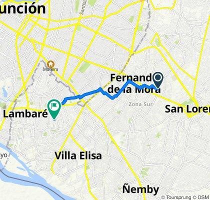 De San Carlos 387, Fernando de la Mora a Héroes del 70 612, Lambaré