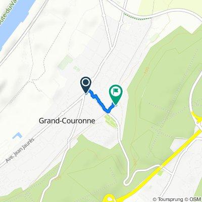 De Avenue du Maréchal Foch, Grand-Couronne à 20 Rue des Mesliers, Grand-Couronne