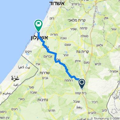 Route to Gidon Ben Yoash Street 13–17, Ashqelon