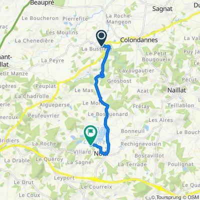 De 15 Le Bourg, Saint-Léger-Bridereix à 2 Beaulieu, Noth