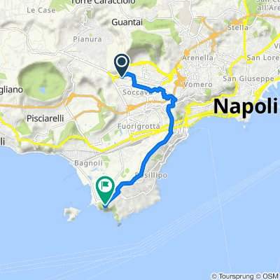 Da Via Fabrizio Padula 14, Napoli a Parco Virgiliano, Napoli