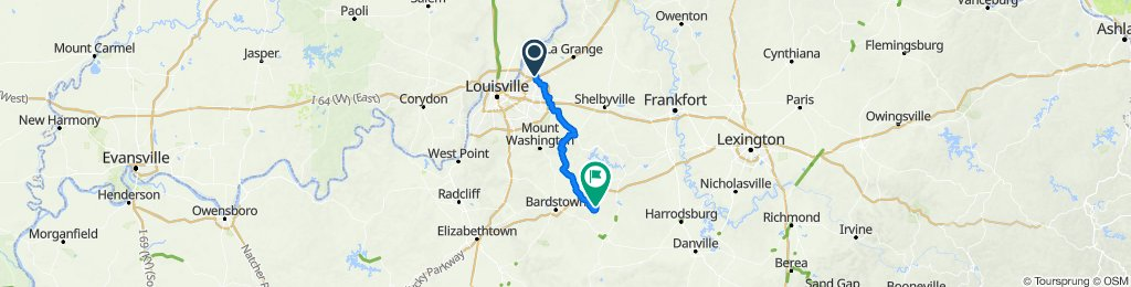 Day 1: Option 2 B&B to Bardstown