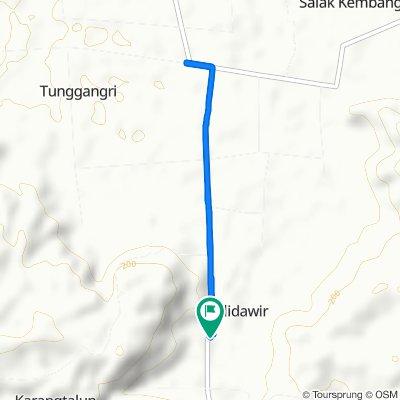 Route to Jalan Raya Bendiliet, Kalidawir
