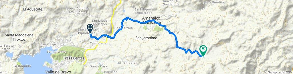 De Calle Amapola, Santa María Pipioltepec a Unnamed Road