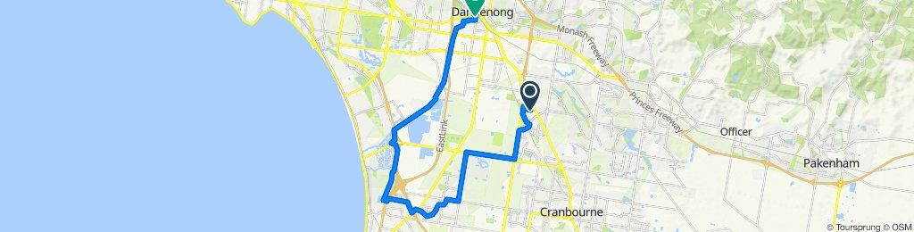 Lynbrook to Dandenong via Carrum downs