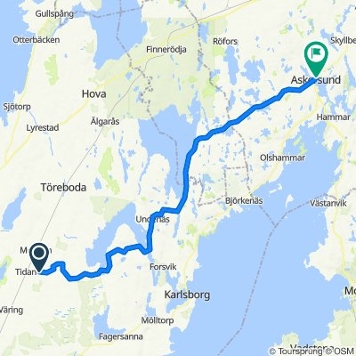 Route to Bergslagsvägen, Askersund