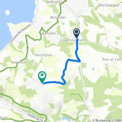 De 38 Route de Lann Kerenoc, Pleumeur-Bodou à Hent Crec'h Labo, Pleumeur-Bodou