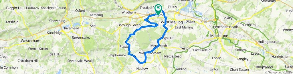 1A Plowenders Close, West Malling to Oak House, Trottiscliffe Road, West Malling