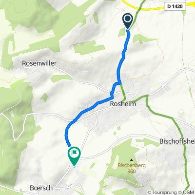 Itinéraire vers 27 Rue de la Fontaine, Boersch