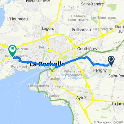 De Rue des Orangers 8, Perigny à Rue de Lorient 9, La Rochelle