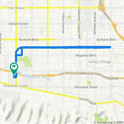 4646 Vista Del Monte Ave, Los Angeles to 4640 Vista Del Monte Ave, Los Angeles