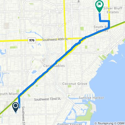 Route to 2340 SW 31st Ave, Miami