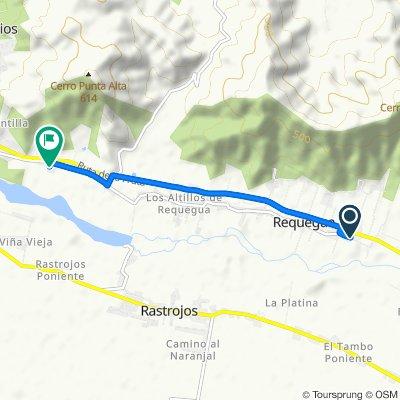 De Requehua - San Vicente por camino Antiguo, San Vicente a Los Orellana, San Vicente