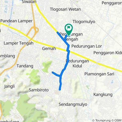 Jalan Ganesha Tengah III 170, Kecamatan Pedurungan to Jalan Ganesha Tengah III 170, Kecamatan Pedurungan