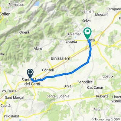 Mallorca: Santa Maria-Biniagual-Inca