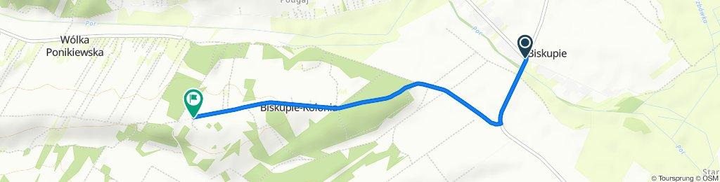 Koncpecja szlaku rowerowego gmina Wysokie do punktu widokowego