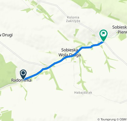 Koncpecja szlaku rowerowego gmina Wysokie do szlaku zielonego