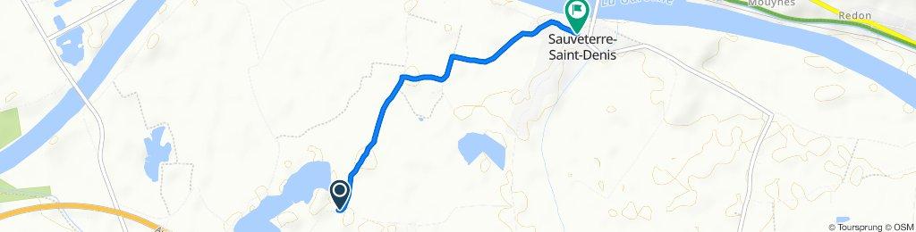 Itinéraire vers 57 Roumec, Sauveterre-Saint-Denis