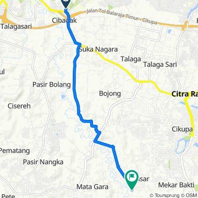 Unnamed Road, Kecamatan Cikupa to Jalan Milenium Raya, Kecamatan Panongan
