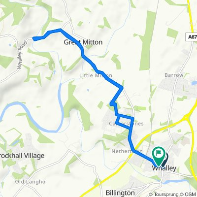 1 Vale House Close, Clitheroe to 9 George St, Clitheroe