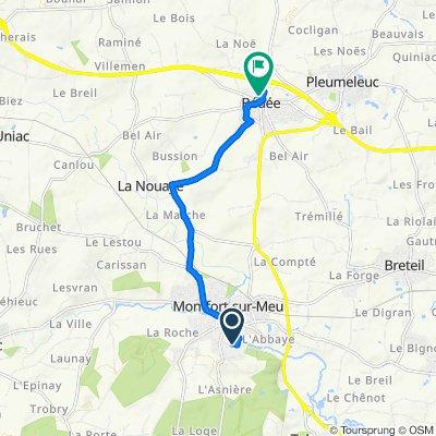 De 1 Allée René Guy Cadou, Montfort-sur-Meu à 18 Rue de Dinan, Bédée