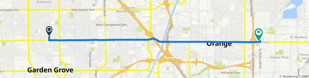 11842 Old Fashion Way, Garden Grove to 2501 E Chapman Ave, Orange