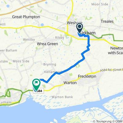 Holmeswood 15, Kirkham to Lodge Lane