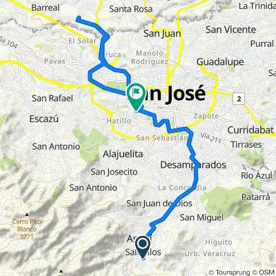 De Salitrillos a Diagonal 26A, San José