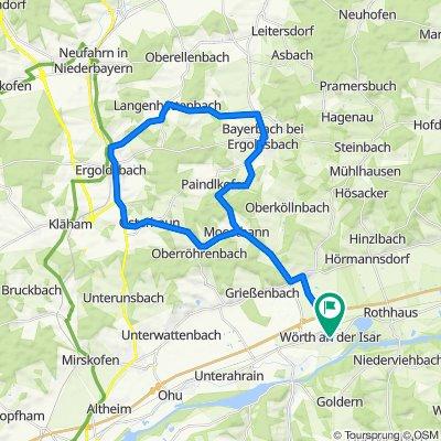 Wörth-Ergoldsbach-Langen-Dürrenhettenbach-Bayerbach-Winkelmoos-Moosthann-Wörth