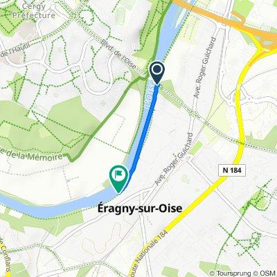 De Boulevard Charles de Gaulle, Eragny à Chemin de Halage, Eragny