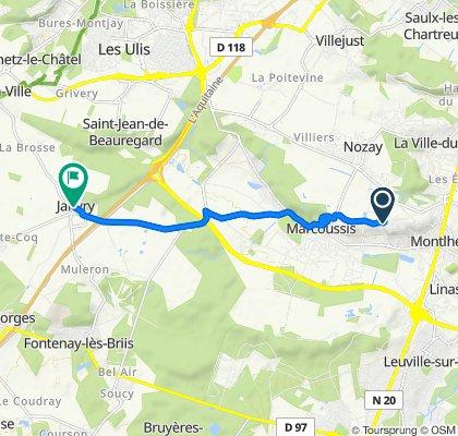 De 80 Chemin du Moulin à Vent, Montlhéry à 6 Place de l'Église, Janvry