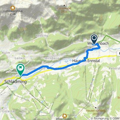Weißenbach 169 nach Linke Ennsau 633, Schladming