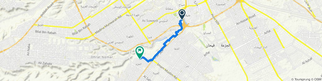 3272 شارع ابن عساكر, الرياض to 8163 شارع حوارية, الرياض