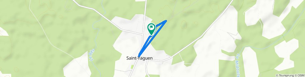 De Lelane, Saint-Yaguen à Lelane, Saint-Yaguen