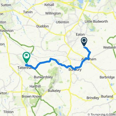 Winterford Lane, Alpraham, Tarporley to 1 Oaklands Ave, Chester